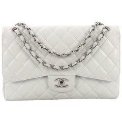 120bd853d4d9 Chanel Classic Double Flap Bag Quilted Caviar Jumbo