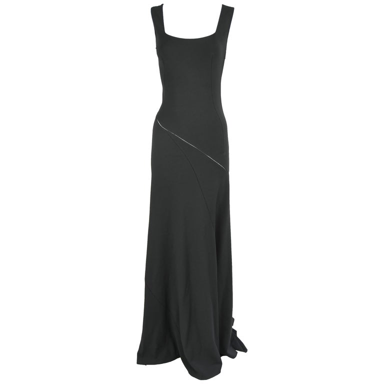 Azzedine Alaia Black Sleeveless Gown For Sale