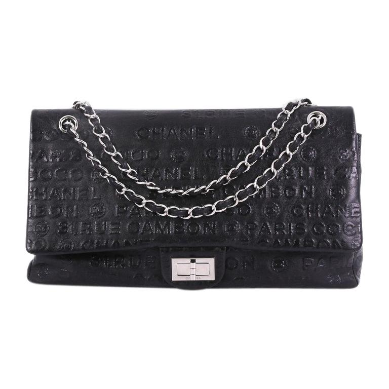 cda693ba86b3 Chanel 31 Rue Cambon Double Flap Bag Embossed Leather Maxi at 1stdibs