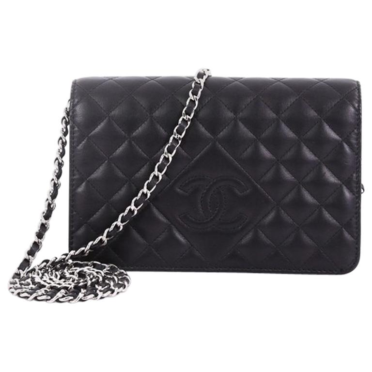 c65aa2e5f642 Chanel Diamond CC Wallet on Chain Quilted Lambskin at 1stdibs