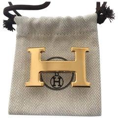 "Hermès belt Buckle // Model: ""Constance"" in shiny gold, new !"