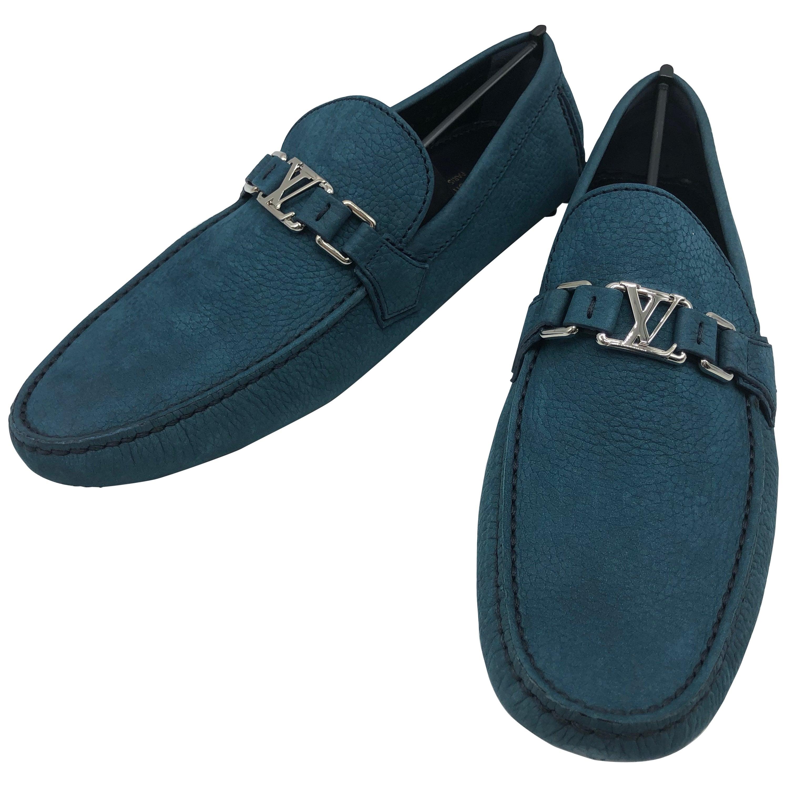 5d8cff3e09c Louis Vuitton men Loafers in blue suede // Model: Hockenheim // Size: 10 //  New