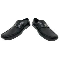 f686a7ca5100 Louis Vuitton men Loafers in black leather    Model  RaceTrack car shoe