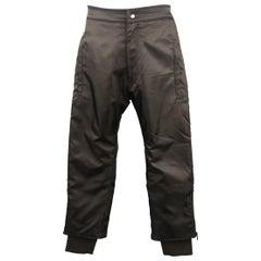 Men's KTZ Size S Black Nylon Bomber Zip Jogger Pants