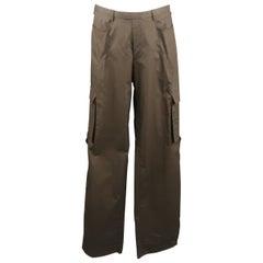 Men's NEIL BARRETT Size 32 Brown Wide Leg Cargo Pants