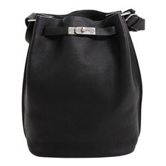 Hermes So Kelly Black Togo PHW