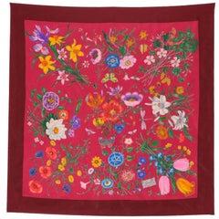 "1970s ""Flora"" Gucci Silk Foulard"