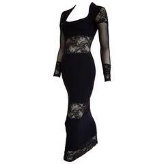 Isabelle ALLARD Paris Couture Cotton Lace Bands Wool Silk Dress - Unworn, New