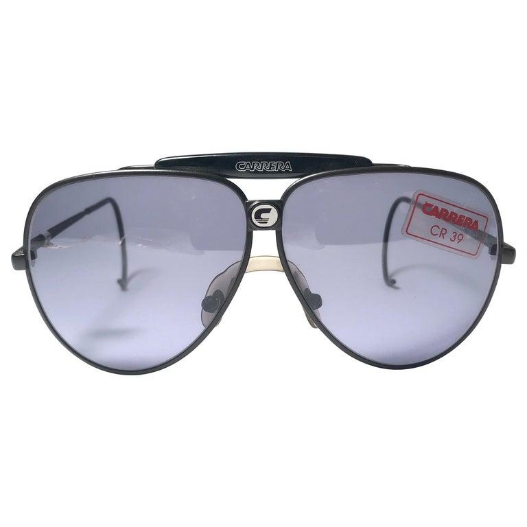 f0292e2df25da6 Neue übergroße Vintage Carrera Aviator 5543 schwarze große Sonnenbrille,  Österreich, 1970er 1