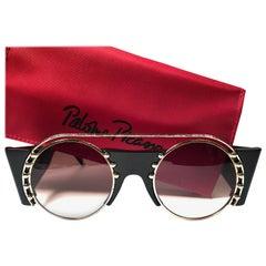 New Paloma Picasso Vintage Oval Black 3729 Lady Gaga Sunglasses Germany 1980