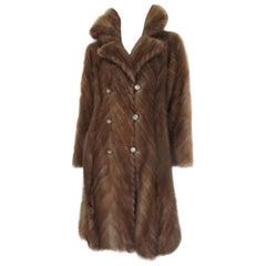 Vintage Paris Chevron Mink fur coat
