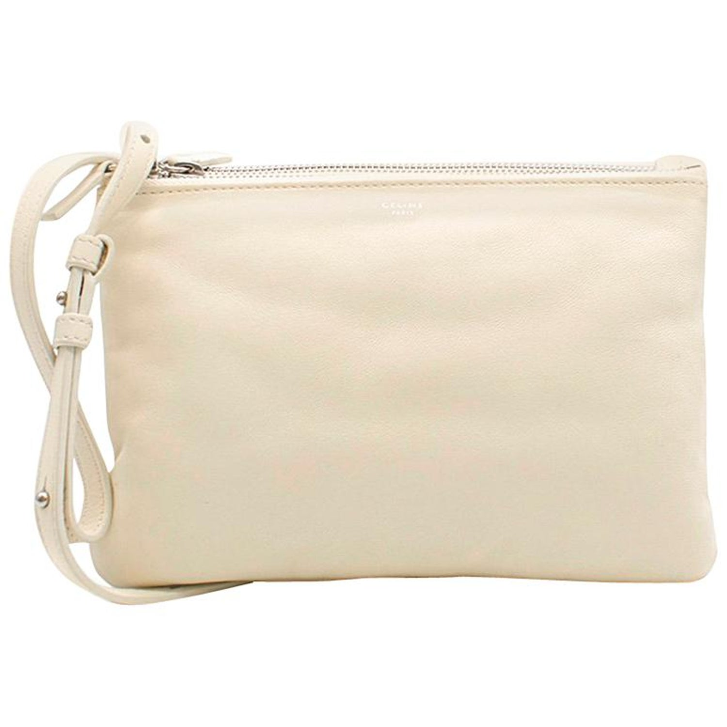 89649be3cdfb Celine Trio Ivory Leather Cross-Body Bag at 1stdibs