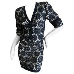 Yves Saint Laurent Rive Gauche Vintage 1970's Lace Overlay Skirt Suit