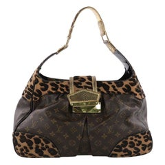 Louis Vuitton Polly Handbag Limited Edition Monogram Canvas and Pony Hair