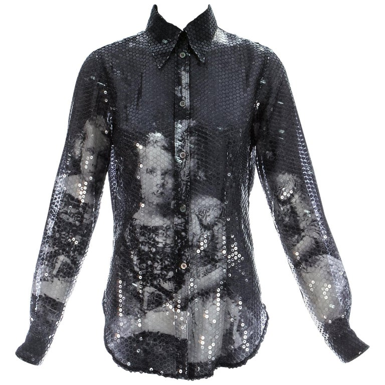Alexander McQueen sequin 'Joan' blouse, A/W 1998 For Sale