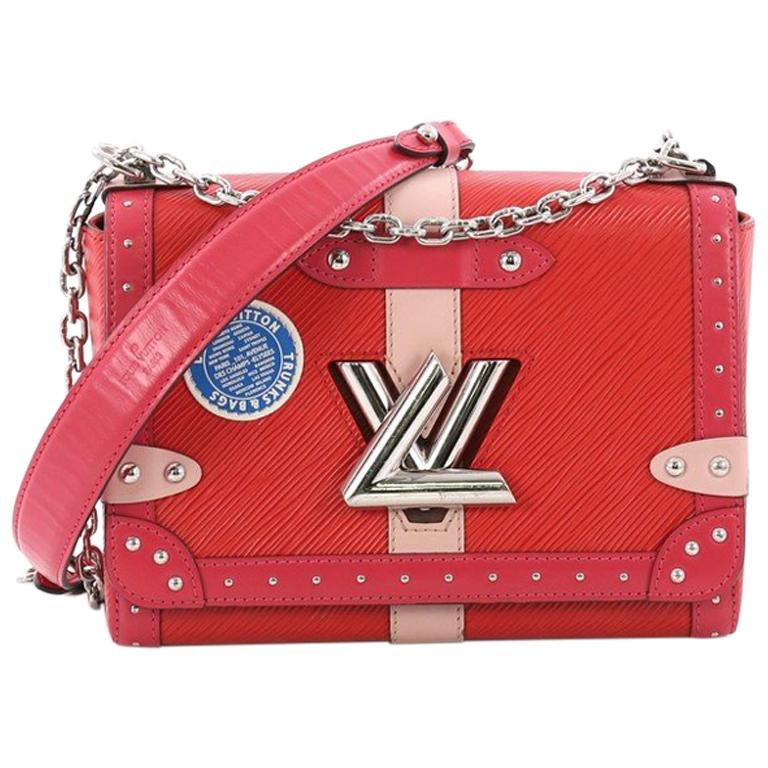 8d552e45d0e6 Louis Vuitton Twist Handbag Limited Edition Trunks Epi Leather MM For Sale