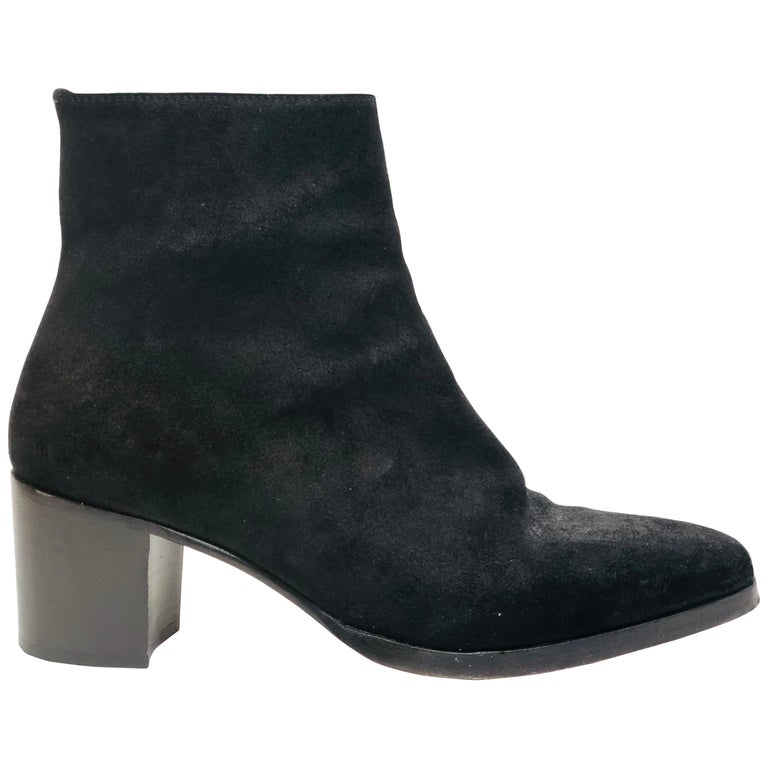Christian Louboutin Black Suede Booties  For Sale