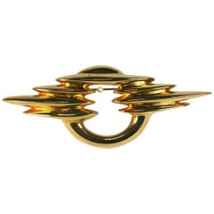 Courreges Modernist Brooch