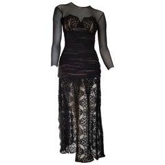 Isabelle ALLARD Paris chest skirt lace, silk cotton black dress - Unworn, New