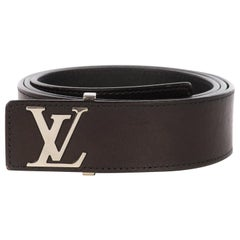 Louis Vuitton belt for men in black leather in excellent condition !