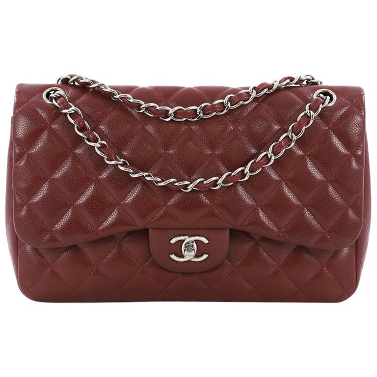 fc09eb4a6c79 Chanel Classic Double Flap Bag Quilted Caviar Jumbo For Sale at 1stdibs