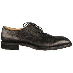 ARTHUR BEREN Size 9.5 Black Textured Leather Lace Up Shoes
