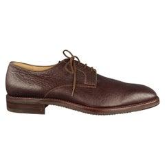Men's GRAVATI X ARTHUR BEREN Size 9.5 Brown Textured Leather Lace Up Shoes