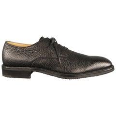 Men's ARTHUR BEREN Size 9.5 Black Textured Leather Lace Up