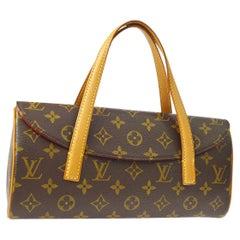 Louis Vuitton Monogramm braune Henkel Bücher Abend Flap Tasche im Kelly Stil