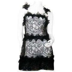 Rochas Black Lace Mini Dress