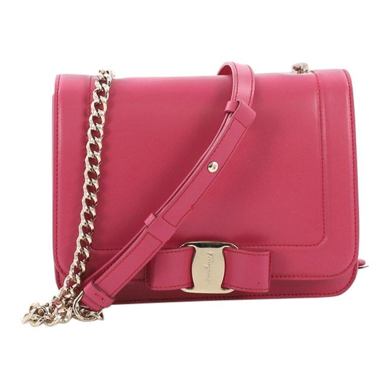 Salvatore Ferragamo Vara Rainbow Crossbody Bag Leather Small For Sale 202e9ac602899