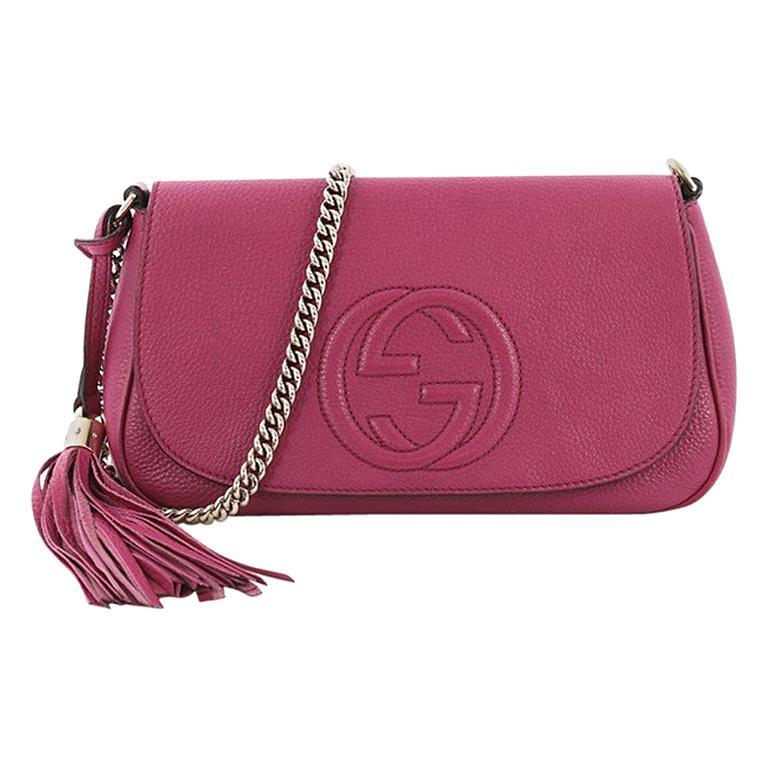 c5578c810c3 Gucci Soho Chain Crossbody Bag Leather Medium at 1stdibs