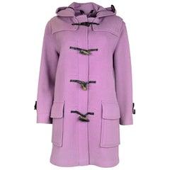 Burberry Lavender Mini Duffle Toggle Coat W/ Hood Sz S