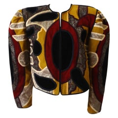 Judith Roberts 1980s Abstract Patchwork Jacket