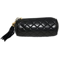Chanel Black Vintage Mini Roll Bag W/ Tassel