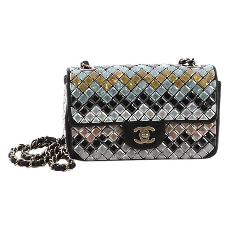 3679c4cae1 Chanel Mosaic Flap Bag Embellished Lambskin Small For Sale at 1stdibs