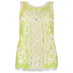 La Perla Green Embroidered Sleeveless Top Sz 42