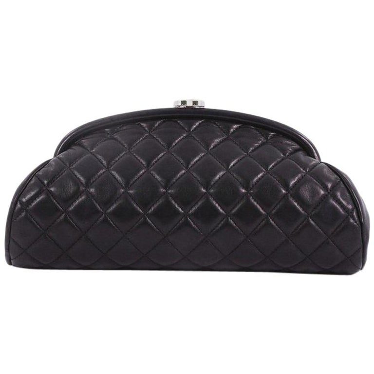 Chanel Timeless Clutch Quilted Lambskin For Sale