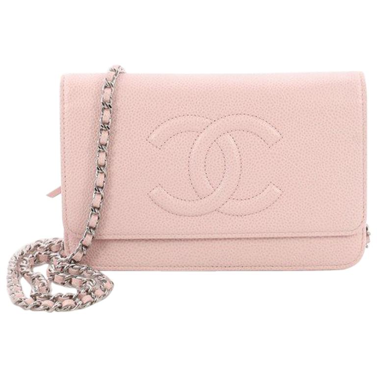 a285c2207678 Chanel Timeless Wallet on Chain Caviar at 1stdibs