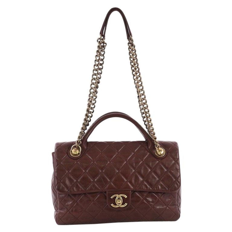 bb7264c4f210 Chanel Castle Rock Flap Bag Quilted Glazed Calfskin Medium at 1stdibs