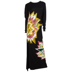 TOM FORD  Black Knit & Multi Color Beaded Starburst Maxi 2013 Collection
