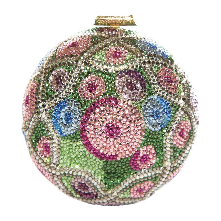 JUDITH LEIBER  Multi Color Faberge Egg Evening Bag Sale For Sale