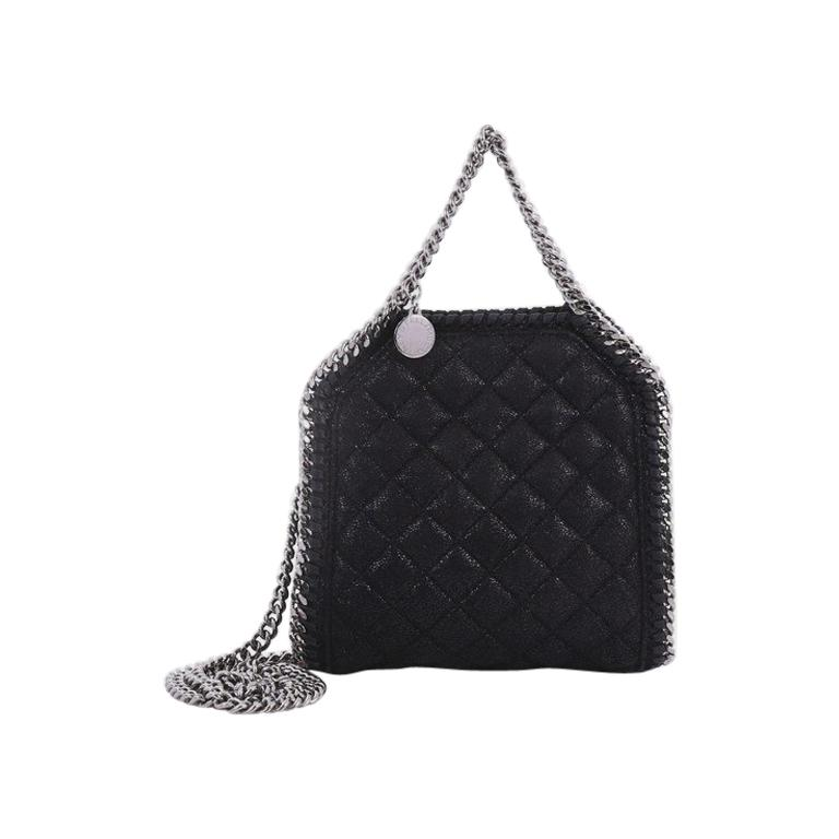 Stella McCartney Falabella Fold Over Crossbody Bag Quilted Shaggy Deer Tiny  at 1stdibs 799dc222be612