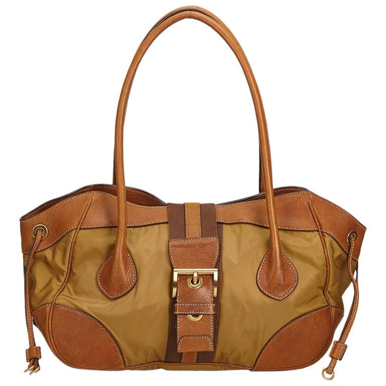 22147aa6af Prada Brown Nylon Shoulder Bag For Sale at 1stdibs