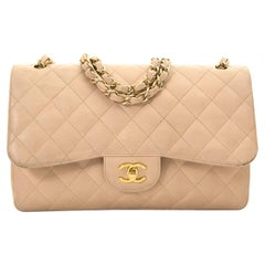 Chanel Jumbo Beige Double Classic Flap Bag Caviar GHW