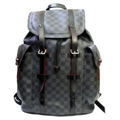 2015 Luois Vuitton Damier Graphite Christopher Backpack Bag