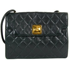 Chanel Dark Green Vintage Shoulder Bag