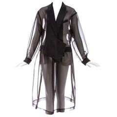 Comme des Garcons deep mauve organza oversized smock dress, ca. 1995