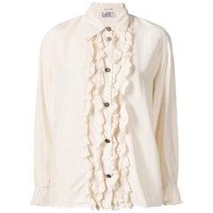 Versace Ivory Silk Blouse