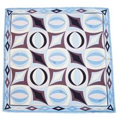 Anfang der 2000er Jahre gedruckt Pucci blau und braun Mini Seidenschal